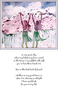 Download and print Friend card: On any given day when my belief...